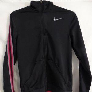 NIKE, black exercise, running, workout, jacket